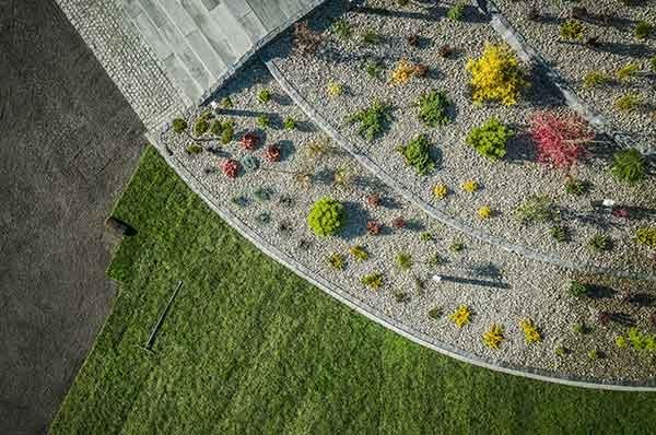aerial view landscaped yard fort collins
