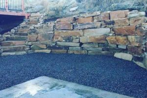 rock retaining wall in fort collins co