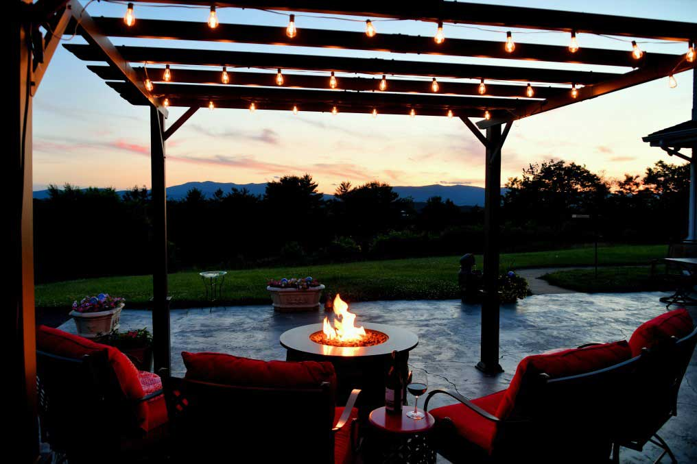 Backyard Pergola and Fire Pit in Fort Collins Colorado