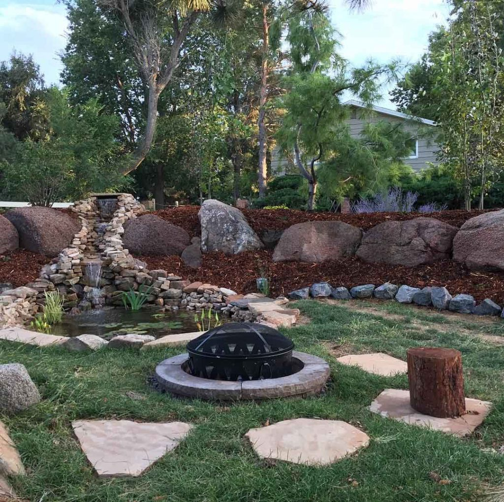 Backyard Fire pit in Fort Collins Colorado