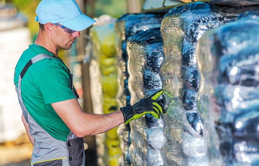 landscaper selecting fertilizer